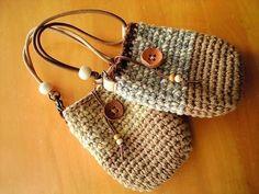 Crochet gadget pouches.