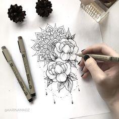 - List of the most beautiful tattoo models Tattoo Henna, Hand Tattoo, Diy Tattoo, Tattoo Time, Mandala Tattoo Design, Tattoo Designs, Mandala Tattoo Shoulder, Mandala Flower Tattoos, Tattoo Sketches