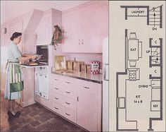 1951 RB Wills Pink Kitchen - Take 2 by American Vintage Home, via Flickr