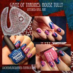 House Tully mani!    MoYou London Plate: Sailor 01 Polish: piCture pOlish…