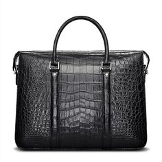 acc72aa87b70 Men's Fashion Alligator Bag, Luxury Alligator Business Briefcase for Men