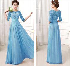 Stylish Long Chiffon Dress