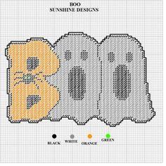 BOO! by SUNSHINE DESIGNS 2/2 - HALLOWEEN WALL HANGING