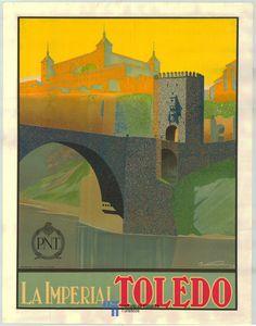 Cartel de turismo de Toledo del año 1929 Spain