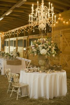 11. Country Rustic Reception…    Photo CreditIf you are lucky enough to have a barn in your backyard like this bride than you don't need to go very far for your country … Josh's dad has a barn but I just don't know how I feel about they LOL. It looks cute but I just think it would be weird  idunno