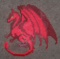 Red Dragon hama perler beads by HDorsettcase on deviantart
