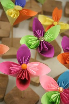 4th Grade Origami Flowers