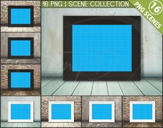 8x10 16x20 Frame on Wooden Floor 16 PNG by TanyDiDesignStudio