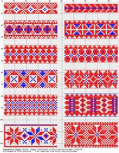 Magyar Népművészet XIV. Borsod megyei keresztszemes hímzések, 6. számú mintaív