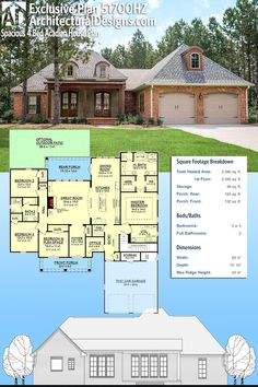 Architectural Designs Exclusive House Plan 51700HZ has a classic Acadian vibe and a flexible floor plan giving you over 2,400 sq. ft. of heated living space. Ready when you are. Where do YOU want to build? #51700HZ #adhouseplans #architecturaldesigns #houseplan #architecture #newhome #newconstruction #newhouse #homedesign #dreamhome #dreamhouse #homeplan #architecture #architect #acadianhouse #acadianhome #southernhouse #southernhome #southernliving #southernlife