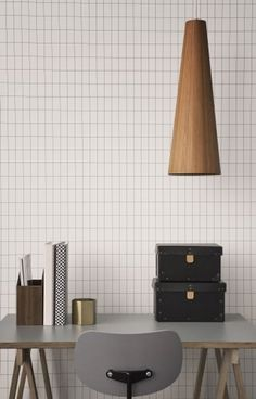 Ferm Living Shop — Grid (Black/White) Wallpaper