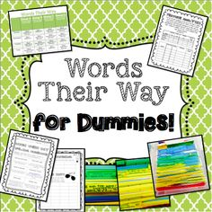 Diary of a 21st Century Teacher - Words Their Way for Dummies!   How to set up Words Their Way -- start from scratch!