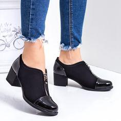 Pantofi dama casual negri Ikalo Romania, Heeled Mules, Casual, Boots, Fashion, Interiors, Crotch Boots, Moda, Fashion Styles