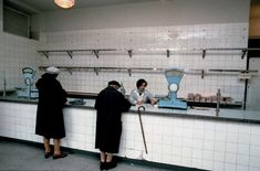 vintage everyday: 50 Astonishing Color Photographs Captured the Communist Regime in Poland in the Early Meat Store, Nostalgia, Art Corner, Communism, Socialism, Photo Black, Documentary Photography, The Good Old Days, Retro