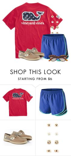 """Just got the fall Vineyard Vines catalog! Gonna get my sharpie!"" by flroasburn ❤ liked on Polyvore featuring NIKE, Sperry, Forever 21 and H&M"
