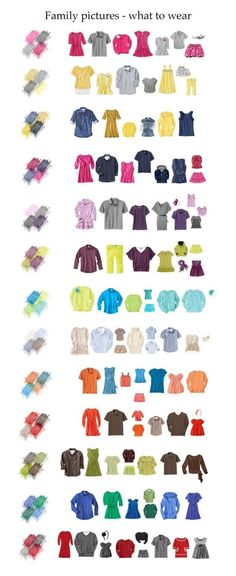 ideas of what to wear for family pictures #photos #colorcombos by kari