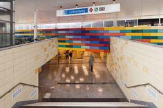 U-Bahnhof Lichtenberg, Berlin, Deutschland - done with Chroma tiles by AGROB BUCHTAL
