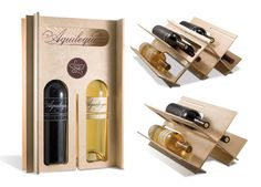 wine packaging that has secondary use. drink lots of their wine and build wine racks. win * win.