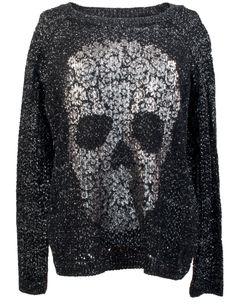 skull sweater - Leatherheaven.com
