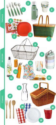 Assemble a picnic basket.