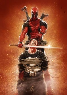 Deadpool vs Punisher by Kaare Andrews
