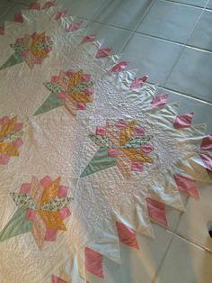 Antique Quilt Hand Quilted Excellent Condition Stored Never Used Beautiful | eBay