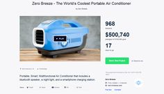 Zero Breeze - The World's Coolest Portable Air Conditioner | Portable, Smart, Multifunctional Air Conditioner that includes a bluetooth speaker, a night light, and a smartphone charging station.