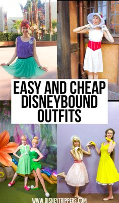 12 Easy And Cheap Disneybound Outfits For Women Disney Inspired Outfits, Disney Outfits, Disney Style, Disney Fashion, Disney Parks, Disney Tips, Disney Costumes For Women, Adult Costumes, Disney Vacation Planning