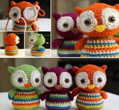 crochet toys design The Cutest Owl Crochet Free Patterns You'll Find Owl Crochet Pattern Free, Crochet Owls, Crochet Toys Patterns, Crochet Gifts, Cute Crochet, Crochet For Kids, Crochet Designs, Crochet Baby, Free Pattern