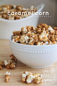 the baker upstairs: crunchy caramel corn