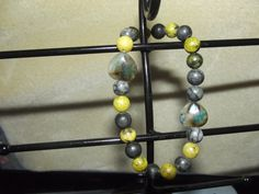 Stone Hearts & Balls by LittlebrusBracelets on Etsy, $12.00