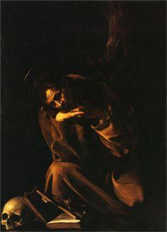 Saint Francis in Meditation - Caravaggio NO MEDITACION SI ACCION.....ENDORFINATE!!!! DEJA A ESTE SAN FRANCISCO DEL CARAVAGGIO  QUE LO ACOMPAÑE OTRO DE LOS SANFRANCISCO DE ZURBARAN....los llamados san franciscos HAMLETS !!! PERO TU    N E N A  al mar.....al mar... solo tenemos 35 dias de verano....!!!!