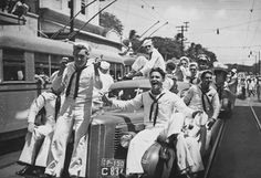 celebration in Honolulu....end of WWII....August, 1945
