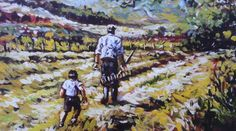 Irish art - In the Hayfield - Limited edition print by Donegal artist Stephen Bennett. Depicts an Irish hayfield scene in County Donegal, Ireland. Wild Atlantic Way, Irish Landscape, I Have Forgotten, Irish Art, Donegal, Limited Edition Prints, Figure Painting, Art Gallery, Childhood
