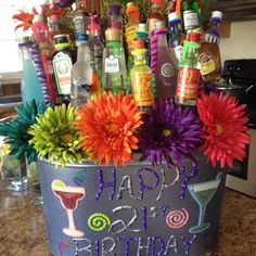 Friend made this for someone's 21st birthday!