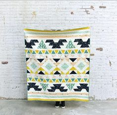 """Embrace your inner warrior and create a quilt that's sure to be a total stunner with this Weekend Warrior Quilt Pattern. This gorgeous <a href=""""http://www.favequilts.com/Miscellaneous-Quilt-Projects/Southwestern-Quilts-and-Southwestern-Quilt-Ideas"""" target=""""_blank"""" title=""""Southwestern Quilts and Southwestern Quilt Ideas"""">Southwestern-inspired pattern</a> uses half-squa..."""