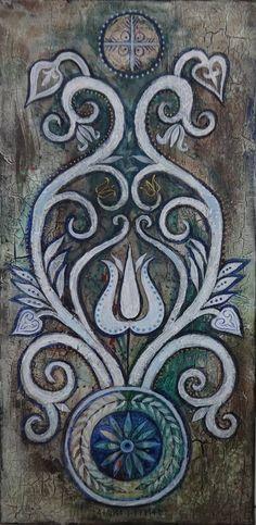 Dávid Júlia festőművész honlapja | Galéria | Legújabb képek Hungarian Tattoo, Hungarian Embroidery, Embroidery Applique, Machine Embroidery Designs, Folk Fashion, Julia, Textiles, Hobbies And Crafts, Pattern Art