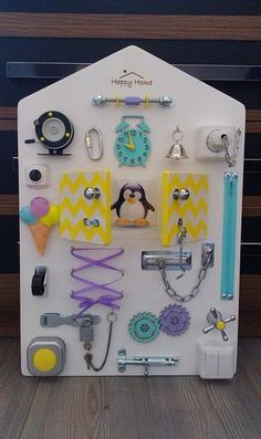 Busy board Toddler sensory Activity board