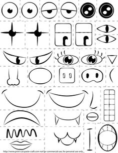 make a face printable - Google Search