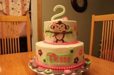 Girl Monkey Cake By yummyeverafter on CakeCentral.com