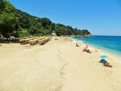 Agioi Saranda beach on Pelion mountain in Greece... Endless beach. Bold blue coloured sea!!! #sea #aegeansea #travelgreece #greece #vacations #summertime #beach