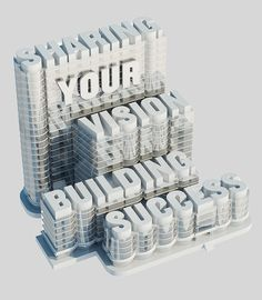 Building Success, #3D, #Graphic #Design, #Illustration, #Typography