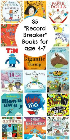 """Record Breaker"" Books for ages 4-7 - In The Playroom"