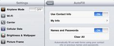 """iPad Tip: Activate AutoFill in Safari - ensure your info is saved in Contacts. Then head to """"Settings,"""" choose """"Safari,"""" and click """"AutoFill"""" and then set both options to """"On"""" and select your file from """"Contacts"""" in the """"My Info"""" field. Ta-Da auto fill is now complete!"""