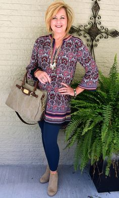 50 IS NOT OLD | LET'S GO FOR A RIDE | Transition Outfit | Fall Booties | Tunic + Leggings | Fashion over 40 for the everyday woman