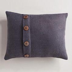 One of my favorite discoveries at WorldMarket.com: Tornado Gray Basket Weave Jute Lumbar Throw Pillow
