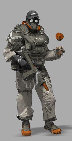 armor by buffy wang on ArtStation. Rpg Cyberpunk, Cyberpunk Character, Armor Concept, Concept Art, Character Concept, Character Art, Texture Photoshop, Sci Fi Armor, Future Soldier