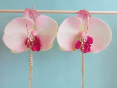 Light Pink and Fuschia Silk Flower Orchid by AshleyTorreyDesigns, $28.00