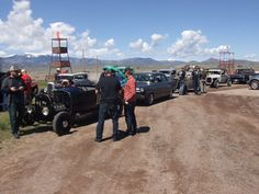 Waiting in line for tech inspection at the 2019 Hot Rod Dirt Drags Ford Fairlane, Larry, Hot Rods, Monster Trucks, Waiting, Sad, Author, Tech, Adventure