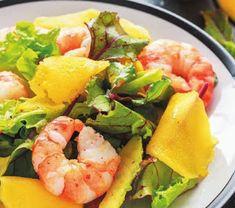 Харчовка: Салат с креветками, манго и авокадо Mango, Shrimp, Food, Manga, Meal, Essen, Hoods, Meals, Eten